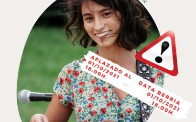 Idoia Asurmendi en concierto en el Bosque de Orgi