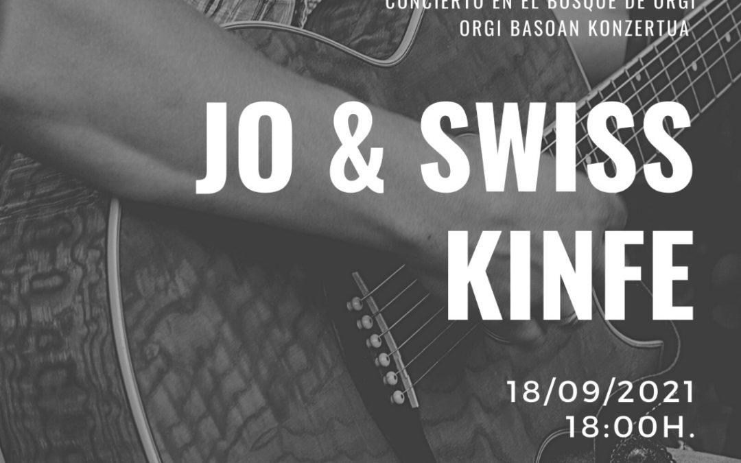 JO AND WISSKNIFE en concierto en el Bosque de Orgi